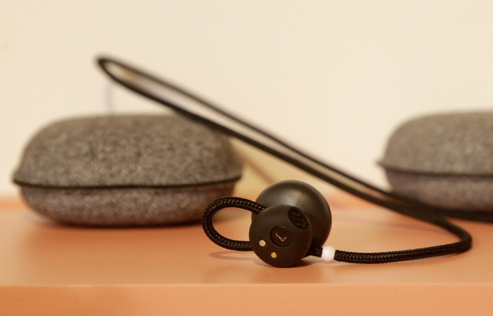 FILE - This Wednesday, Oct. 4, 2017, file photo, shows Google Pixel Buds on display at a Google event in San Francisco. Google prides itself on the intelligence of its search engine and other services, but it's discovering that even companies brimming with brainpower face a tough learning curve when venturing into new markets. The hard lessons are coming in hardware as Google rolls out a new wave of Pixel smartphones and speakers that have suffered some early problems. (AP Photo/Jeff Chiu, File)
