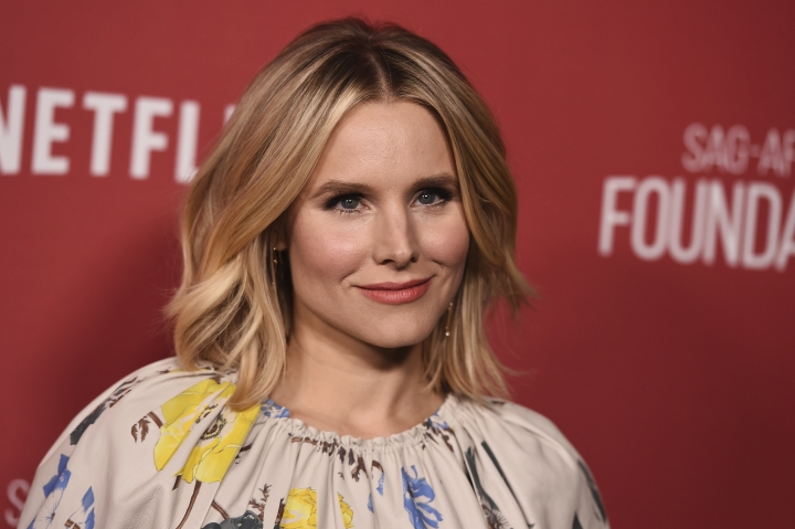FILE - In this Nov. 9, 2017, file photo, Kristen Bell arrives at the 2017 Patron of the Artists Awards at the Wallis Annenberg Center for the Performing Arts in Beverly Hills, Calif. Executive producer Kathy Connell said Monday, Dec. 4, that Bell will preside over the 24th annual Screen Actors Guild Awards ceremony in January 2018. (Photo by Jordan Strauss/Invision/AP, File)