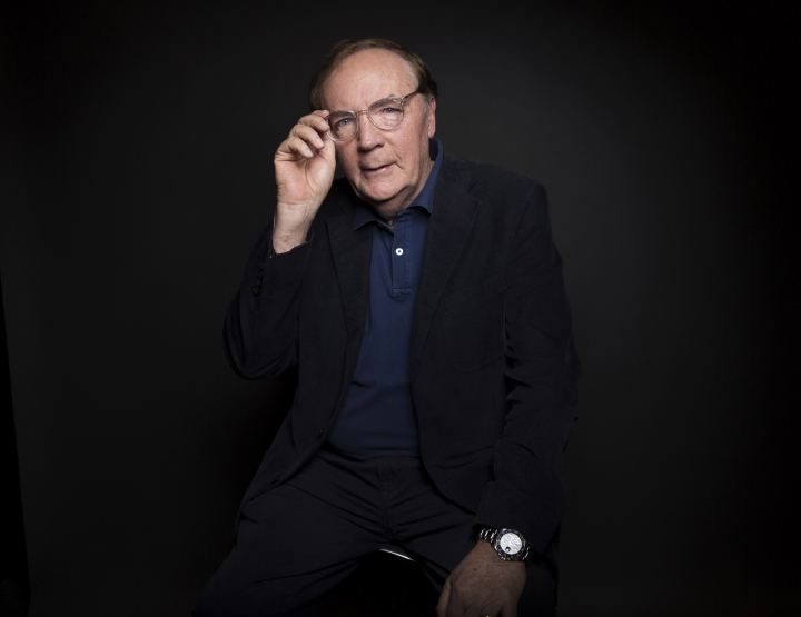 FILE - In this Aug. 30, 2016, file photo, author James Patterson poses for a portrait in New York. Patterson is set for a collaboration with the estate of Albert Einstein. The best-selling and prolific novelist is developing a series for middle schoolers focused on Einstein's scientific discoveries. (Photo by Taylor Jewell/Invision/AP, File)