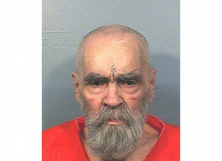 FILE - This Aug. 14, 2017 photo provided by the California Department of Corrections and Rehabilitation shows Charles Manson. A legal battle has arisen for his remains and belongings since his death Nov. 19 of natural causes at the age of 83. (California Department of Corrections and Rehabilitation via AP)