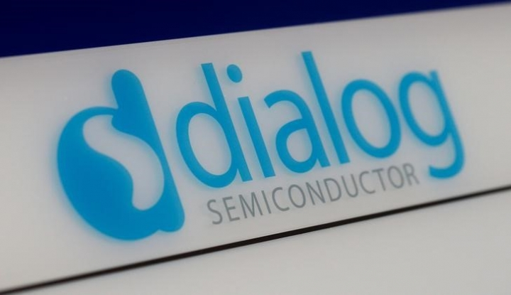 FILE PHOTO - Dialog semiconductor logo is pictured at a company building in Germering near Munich, Germany August 15, 2016. REUTERS/Michaela Rehle