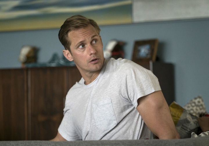 """This image released by HBO shows Alexander Skarsgard in """"Big Little Lies."""" Skarsgard was nominated for a Golden Globe award for best supporting actor in a limited series on Monday, Dec. 11, 2017. The 75th Golden Globe Awards will be held on Sunday, Jan. 7, 2018 on NBC (HBO via AP)"""