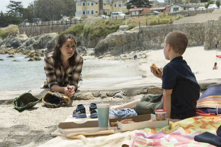 "This image released by HBO shows Shailene Woodley in ""Big Little Lies."" Woodley was nominated for a Golden Globe award for best supporting actress in a limited series or motion picture made for TV on Monday, Dec. 11, 2017. The 75th Golden Globe Awards will be held on Sunday, Jan. 7, 2018 on NBC. (HBO via AP)"