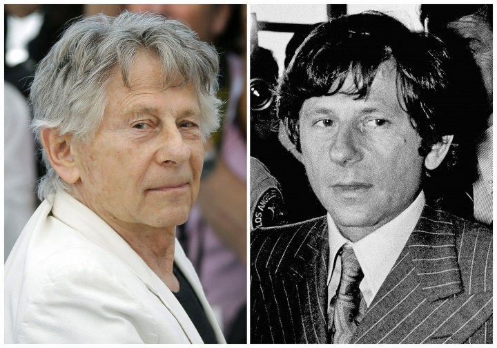 """FILE - This combination of file photos shows director Roman Polanski at the photo call for the film, """"Based On A True Story,"""" at the 70th international film festival, Cannes, southern France, on May 27, 2017, left, and Polanski at a Santa Monica, Calif., courthouse on Aug. 8, 1977. Los Angeles police are investigating allegations that Polanski molested a 10-year-old girl in 1975. Although the allegations are so old criminal charges cannot be brought, detectives may be able to use evidence they collect to aid in the prosecution of other cases. The 84-year-old has been a fugitive since he fled to France in 1978 on the eve of sentencing in an unrelated case for sexually assaulting a 13-year-old girl. (AP Photo/Files)"""