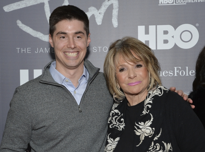 """FILE - In this Feb. 1, 2016 file photo, Michael Foley and Sheila Nevins attend the special screening of HBO's """"Jim: The James Foley Story"""" at the Time Warner Center in New York. Nevins, who has run HBO's documentary unit for 38 years and has been a key gatekeeper in the making of its nonfiction films says she will be stepping down early in 2018. (Photo by Evan Agostini/Invision/AP, File)"""