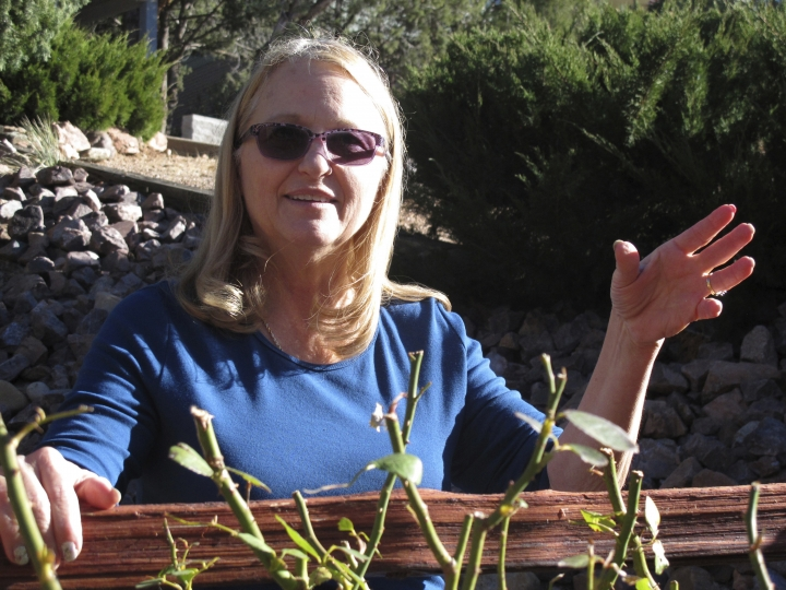 In this Dec. 15, 2017 photo, Debbie Neckel poses at her home. Neckel was the lead detective in a 2008 case in St. Johns, Arizona, where an 8-year-old boy was accused of killing his father and his father's friend. The boy who pleaded guilty to a negligent homicide charge is nearing the end of probation. (AP Photo/Felicia Fonseca)