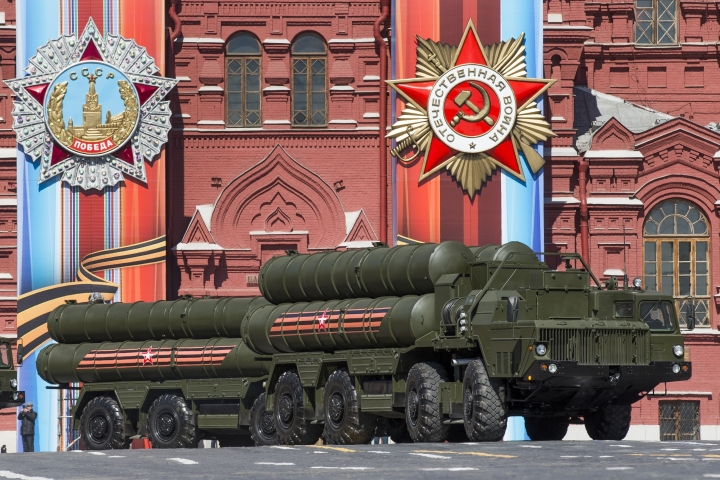 FILE In this file photo taken on Sunday, May 7, 2017, Russian the S-400 air defense missile systems drive during a rehearsal for the Victory Day military parade in Red Square in Moscow, Russia. Turkey has finalized a deal with Moscow for the purchase of Russia's S-400 anti-missile system, Turkish defense officials announced Friday, Dec. 29, 2017 despite concerns voiced by some of the NATO member's allies. (AP Photo/Alexander Zemlianichenko, File)