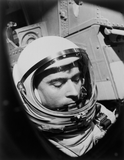 This 1965 photo made available by NASA shows John Young during the Gemini 3 mission. NASA says the astronaut, who walked on the moon and later commanded the first space shuttle flight, died on Friday, Jan. 5, 2018. He was 87. (NASA via AP)