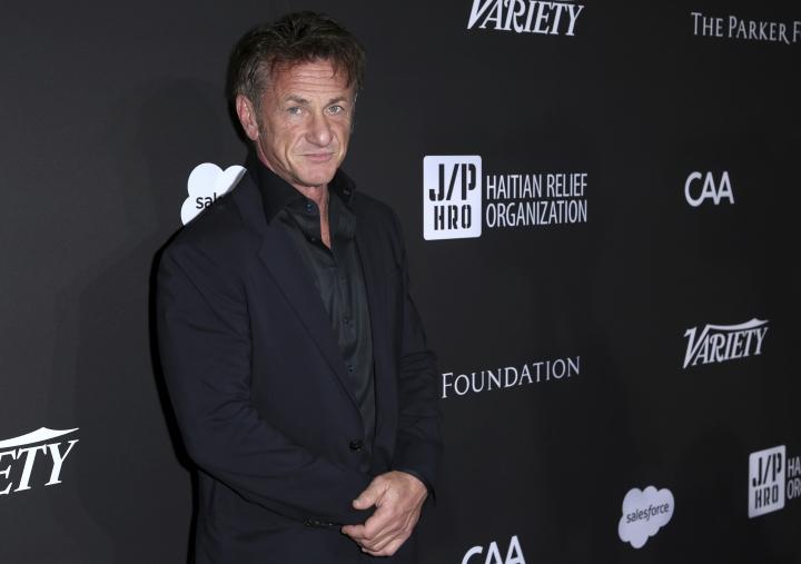 Sean Penn arrives at the 2018 Sean Penn J/P Haitian Relief Organization Gala at Milk Studios on Saturday, Jan. 6, 2018, in Los Angeles. (Photo by Willy Sanjuan/Invision/AP)