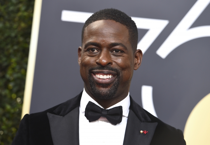 Sterling K. Brown arrives at the 75th annual Golden Globe Awards at the Beverly Hilton Hotel on Sunday, Jan. 7, 2018, in Beverly Hills, Calif. (Photo by Jordan Strauss/Invision/AP)
