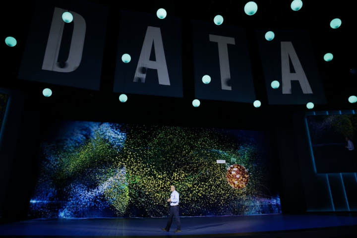 Intel CEO Brian Krzanich delivers a keynote speech at CES International Monday, Jan. 8, 2018, in Las Vegas. (AP Photo/Jae C. Hong)