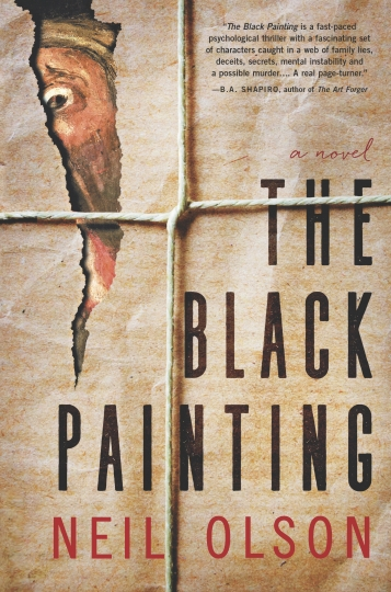 "This cover image released by Hanover Square Press shows ""The Black Painting,"" a novel by Neil Olson. (Hanover Square Press via AP)"