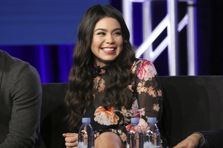 """Auli'i Cravalho participate in the """"Rise"""" panel during the NBCUniversal Television Critics Association Winter Press Tour on Tuesday, Jan. 9, 2018, in PAsadena, Calif. (Photo by Willy Sanjuan/Invision/AP)"""