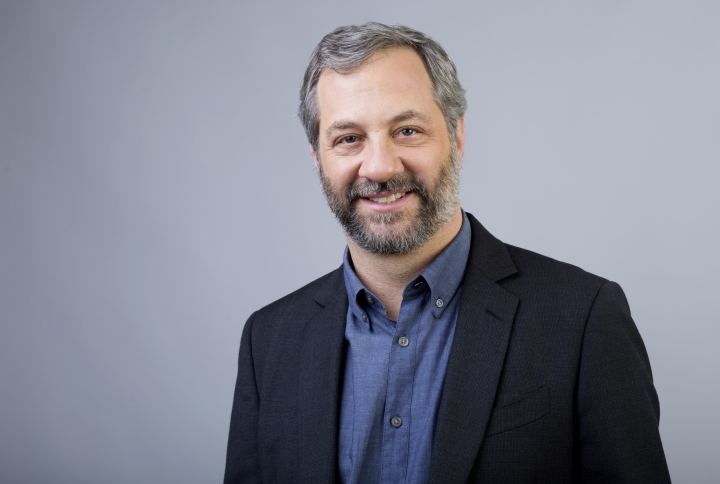 "Judd Apatow producer and director of the HBO documentary ""The Zen Diaries of Garry Shandling"" pose for a portrait during the 2018 Television Critics Association Winter Press Tour at the Langham Hotel on Thursday, Jan. 11, 2018, in Pasadena, Calif. (Photo by Willy Sanjuan/Invision/AP)"