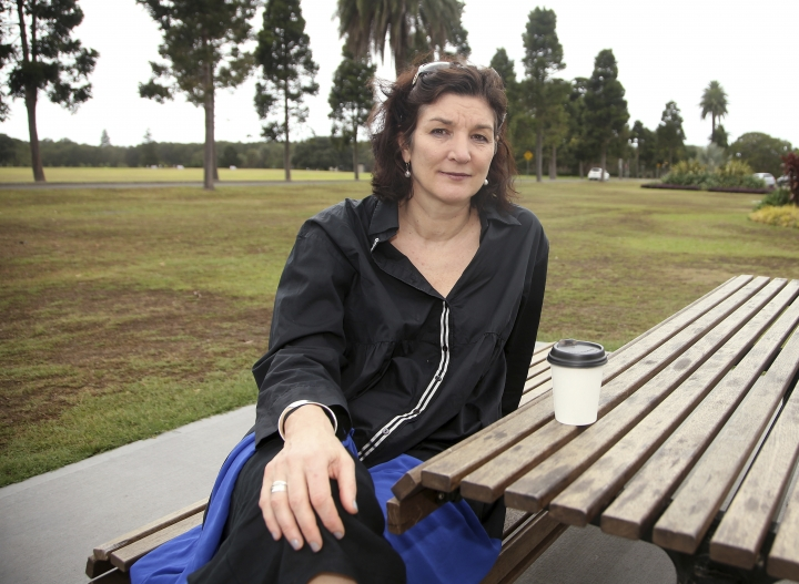 Fiona Allan poses for a photo in Sydney's Centennial Park on Jan. 10, 2018. Allan said conductor Charles Dutoit pushed her against the wall and put his hand on her breast when she delivered documents to his dressing room while interning in 1997 at the Tanglewood festival, the summer home of the Boston Symphony Orchestra. (AP Photo/Rick Rycroft)