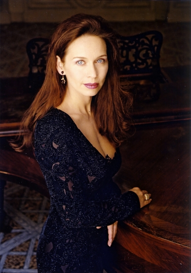 "This undated photo provided by Peter Knapp shows Anne-Sophie Schmidt in Paris. Schmidt was 31 in May 1995 when she said Dutoit began singling her out for attention. She was singing the principal female role in Debussy's ""Pelleas and Melisande"" with Dutoit conducting the Orchestre National de France in Paris. On the day of a dress rehearsal at the Theatre des Champs-Elysees, she said, she found herself in an empty hallway with the conductor. ""He came out of his dressing room and he jumped on me, pushed me against the wall and started to touch me everywhere…"" (Peter Knapp via AP)"