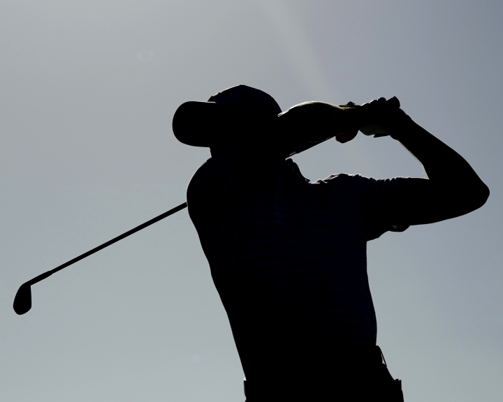 Justin Thomas follows his drive off the 14th tee during the second round of the Sony Open golf tournament, Friday, Jan. 12, 2018, in Honolulu. (AP Photo/Marco Garcia)