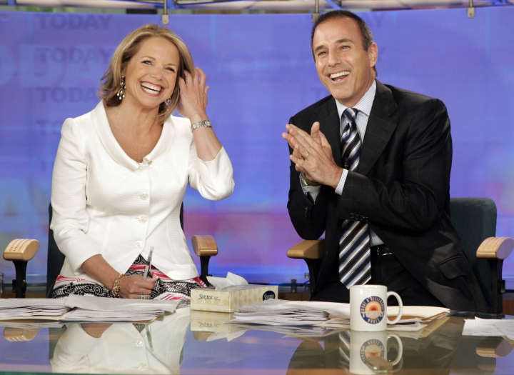 "FILE - In this May 31, 2006 file photo, Katie Couric and Matt Lauer, co-hosts of the NBC Today"" program, open her farewell broadcast in New York. Couric told People in a story published Saturday, Jan. 13, 2018: ""I had no idea this was going on during my tenure or after I left."" She left NBC in 2006 to anchor the ""CBS Evening News"" and has been criticized for not speaking out in the more than a month since Lauer was fired. The show's network, NBC, said an investigation of a Lauer colleague's detailed complaint showed ""inappropriate sexual behavior."" Since, other women have reportedly accused him of harassment and assault.(AP Photo/Richard Drew, File)"
