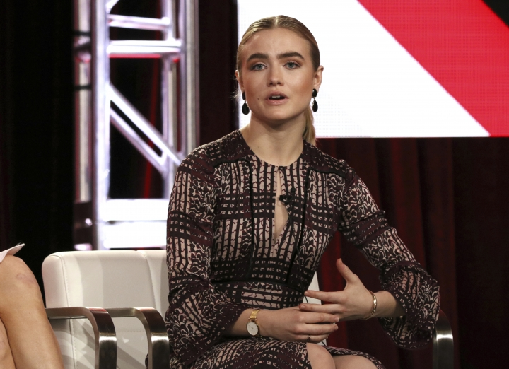 Maddie Hasson participates in the 'Impulse' panel during the YouTube Television Critics Association Winter Press Tour on Saturday, Jan. 13, 2018, in Pasadena, Calif. (Photo by Willy Sanjuan/Invision/AP)