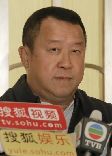 Hong Kong actor Eric Tsang pauses during a press conference in Hong Kong, Wednesday, Jan. 17, 2018. Tsang vehemently denies rumors of allegedly sexual harassment made against him. Tsang said that all accusations are fabricated. (AP Photo/Vincent Yu)
