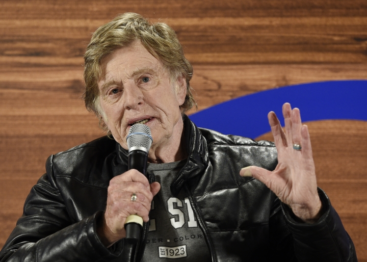 Sundance Institute founder Robert Redford speaks during the opening day press conference at the 2018 Sundance Film Festival on Thursday, Jan. 18, 2018, in Park City, Utah. (Photo by Chris Pizzello/Invision/AP)