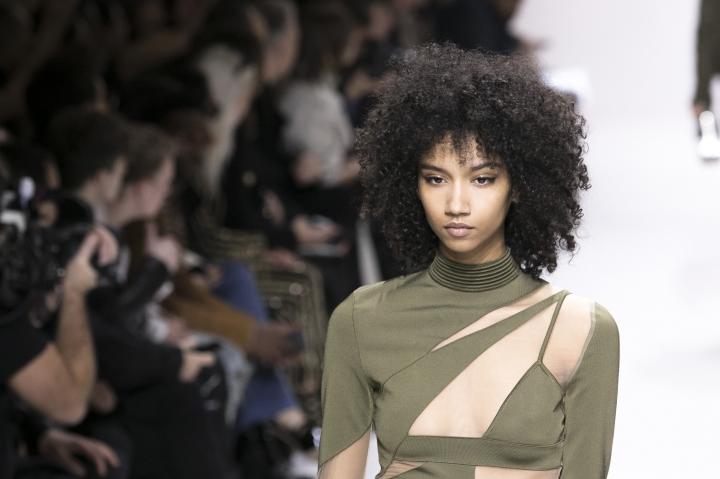A model wears a creation for the Balmain men's Fall-Winter 2018/2019 fashion collection presented in Paris, Saturday, Jan.20, 2018. (AP Photo/Kamil Zihnioglu)