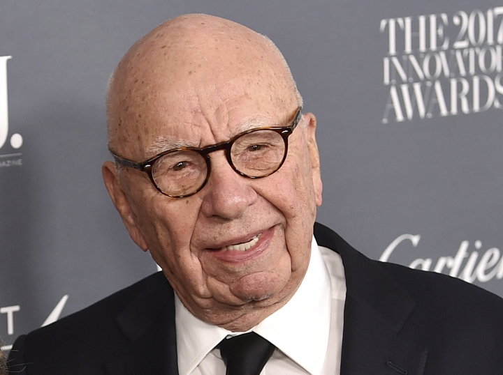 "FILE - In this Wednesday, Nov. 1, 2017, file photo, Fox News chairman and CEO Rupert Murdoch attends the WSJ. Magazine 2017 Innovator Awards at The Museum of Modern Art in New York. Murdoch says Facebook should pay fees to ""trusted"" news producers for their content. Murdoch, whose companies own The Wall Street Journal, Fox News, the New York Post and other media properties, said Monday, Jan. 22, 2018, that publishers are ""enhancing the value and integrity of Facebook through their news and content but are not being adequately rewarded for those services."" (Photo by Evan Agostini/Invision/AP, File)"