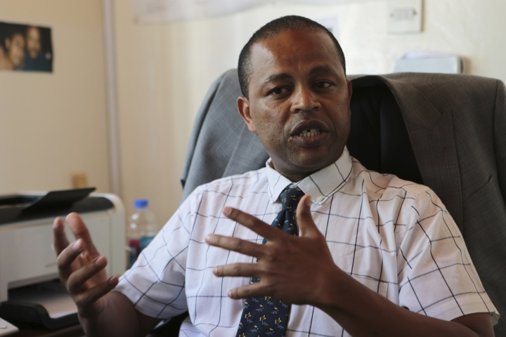 Abebe Shibru, Marie Stopes International Country Director for Zimbabwe speaks to the Associated Press in Harare, Tuesday, Jan, 23, 2018, where the heath system is in tatters amid a plummeting economy, and Marie Stopes used to treat at least 150,000 women per year, but now its outreach sites are cut in half because of funding problems. US President Donald Trump's dramatic expansion of a ban on U.S. funding to foreign organizations that provide abortions has left impoverished women around the world without treatment for HIV, malaria and other diseases, health groups say.(AP Photo/Tsvangirayi Mukwazhi)