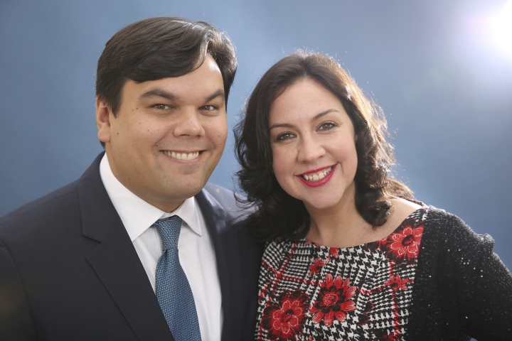 "FILE - In this Feb. 10, 2014 file photo, Robert Lopez and Kristen Anderson-Lopez pose for a portrait at the 86th Oscars Nominees Luncheon in Beverly Hills, Calif. The couple were nominated for an Oscar for their song, ""Remember Me,"" from the animated film, Coco."" (Photo by Matt Sayles/Invision/AP, File)"