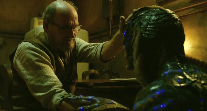"""This image released by Fox Searchlight Pictures shows Richard Jenkins, left, and Doug Jones in a scene from the film """"The Shape of Water."""" Jenkins was nominated for an Oscar for best supporting actor on Tuesday, Jan. 23, 2018. The 90th Oscars will air live on ABC on Sunday, March 4. (Fox Searchlight Pictures via AP)"""