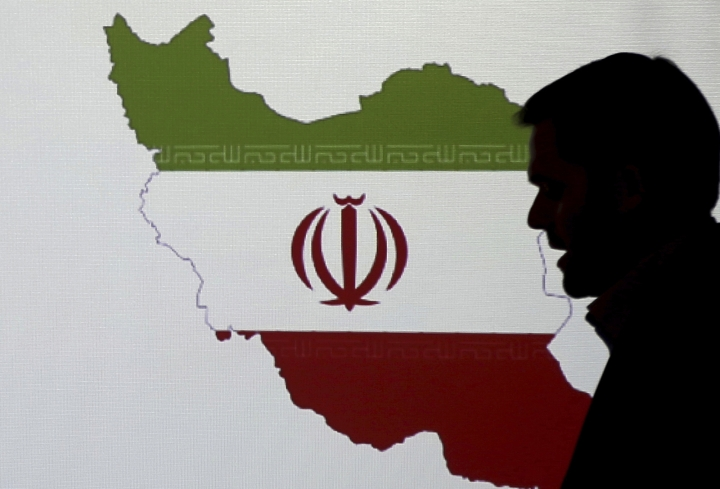 FILE- In this Wednesday, Sept. 20, 2017 file photo, Stuart Davis, a director at one of FireEye's subsidiaries speaks to journalists about the techniques of Iranian hacking, in Dubai, United Arab Emirates. (AP Photo/Kamran Jebreili, File)