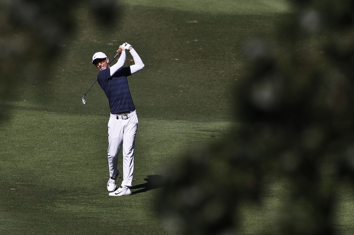 Dylan Frittelli ofSouth Africa follows his shot on the 2nd hole during the third round of the Maybank Championship golf tournament in Shah Alam, Malaysia, Saturday, Feb. 3, 2018. (AP Photo/Sadiq Asyraf)
