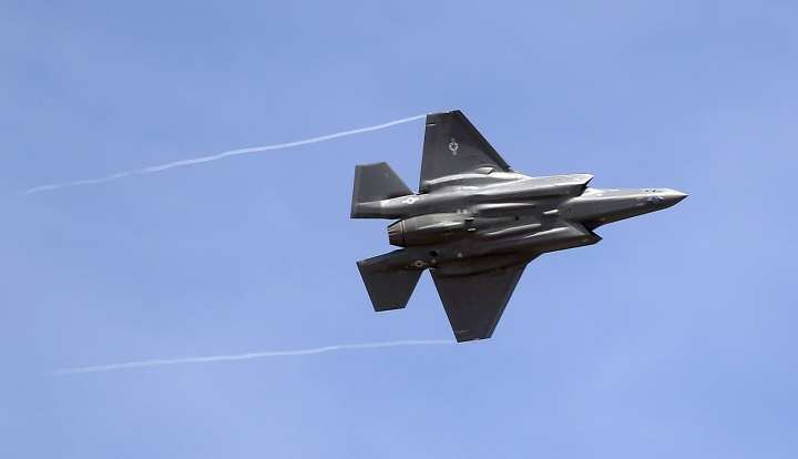 "FILE - In this Sept. 2, 2015, file photo, an F-35 jet arrives at its new operational base at Hill Air Force Base, in northern Utah. The top U.S. diplomat overseeing arms sales said Monday, Feb. 5, 2018, she would be promoting American weaponry at the largest air show in Asia, where China's military footprint and political influence are surging. A large U.S. delegation at the Singapore Air Show is doing ""everything we can"" to encourage Southeast Asian governments to purchase U.S.-made arms like the F-35 fighter jet, Ambassador Tina Kaidanow told reporters in a telephone briefing. She repeatedly sought to dispel the notion that U.S. influence was in retreat. (AP Photo/Rick Bowmer, File)"