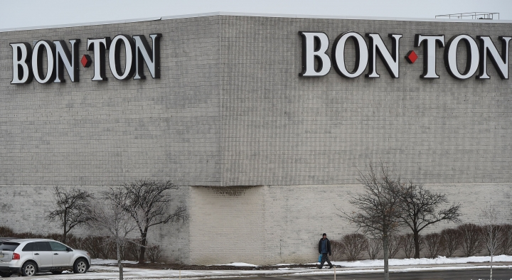 This photo taken Jan. 31, 2018, shows The Bon-Ton store at the Millcreek Mall, near Erie, Pa. The future of Bon-Ton Stores looks tenuous after the department store chain that survived economic downturns including the Great Depression filed for bankruptcy protection and said it may seek a buyer for all or pieces of itself. The filing late Sunday, Feb. 4, 2018, makes Bon-Ton the largest retailer to file for bankruptcy so far this year. (Jack Hanrahan/Erie Times-News via AP)