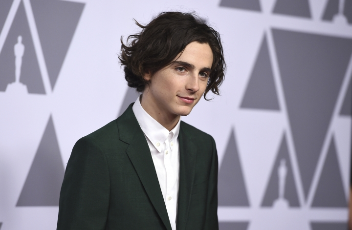 Timothee Chalamet arrives at the 90th Academy Awards Nominees Luncheon at The Beverly Hilton hotel on Monday, Feb. 5, 2018, in Beverly Hills, Calif. (Photo by Jordan Strauss/Invision/AP)