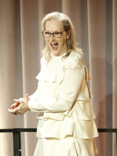Meryl Streep attends the 90th Academy Awards Nominees Luncheon at The Beverly Hilton hotel on Monday, Feb. 5, 2018, in Beverly Hills, Calif. (Photo by Danny Moloshok/Invision/AP)