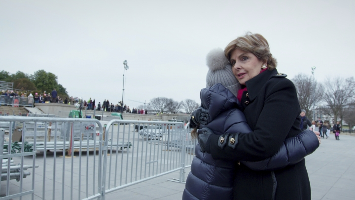 """This image released by Netflix shows attorney Gloria Allred in a scene from the documentary """"Seeing Allred,"""" premiering on Netflix on Friday. (Netflix via AP)"""