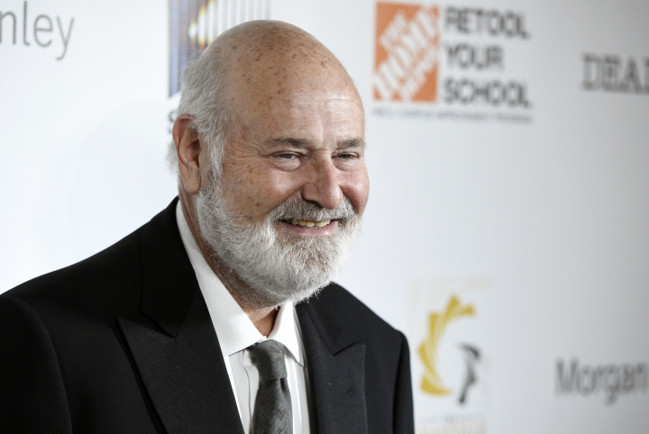 Filmmaker Rob Reiner, recipient of the Stanley Kramer Award for Social Justice, poses at the 9th Annual African American Film Critics Association Awards on Wednesday, Feb. 7, 2018, in Los Angeles. (Photo by Chris Pizzello/Invision/AP)