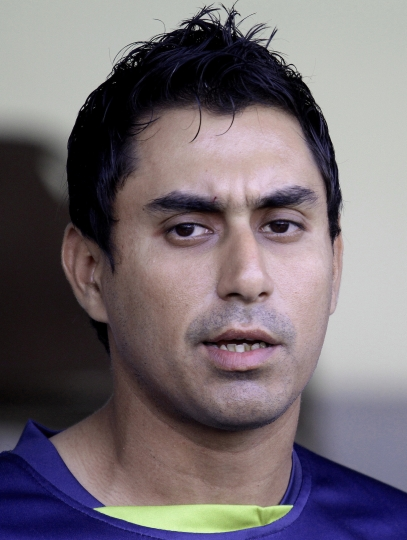 FILE - In this Monday, Feb. 13, 2017 file photo, Pakistan cricketer Nasir Jamshed speaks during a press conference in Lahore, Pakistan. The Pakistan Cricket Board has formally charged former opening batsman Nasir Jamshed with violating five anti-corruption codes.(AP Photo/K.M. Chaudary, File)