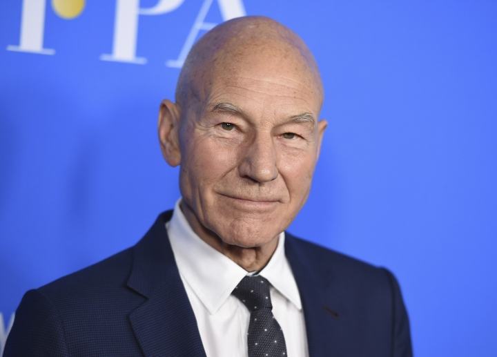 "FILE - In this Aug. 2, 2017 file photo, Patrick Stewart arrives at the Hollywood Foreign Press Association Grants Banquet at the Beverly Wilshire Hotel in Beverly Hills, Calif. Stewart was so moved by the inventors and inventions being honored by the motion picture academy Saturday night, Feb. 10, 2018, that he offered a spontaneous recitation of a scene from Shakespeare's ""A Midsummer Night's Dream."" The venerable actor hosted the academy's annual Scientific and Technical Awards ceremony, an untelevised dinner at the Beverly Wilshire Hotel, and he closed the evening by going off-script with Puck's plea in defense of art. (Photo by Jordan Strauss/Invision/AP, File)"
