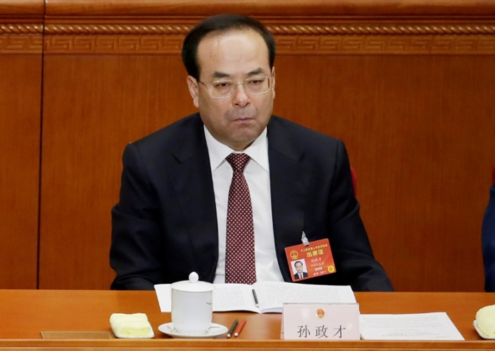 FILE PHOTO: Chongqing Municipality Communist Party Secretary Sun Zhengcai attends the opening session of China's National People's Congress (NPC) at the Great Hall of the People in Beijing, China, March 5, 2017. REUTERS/Jason Lee/File Photo