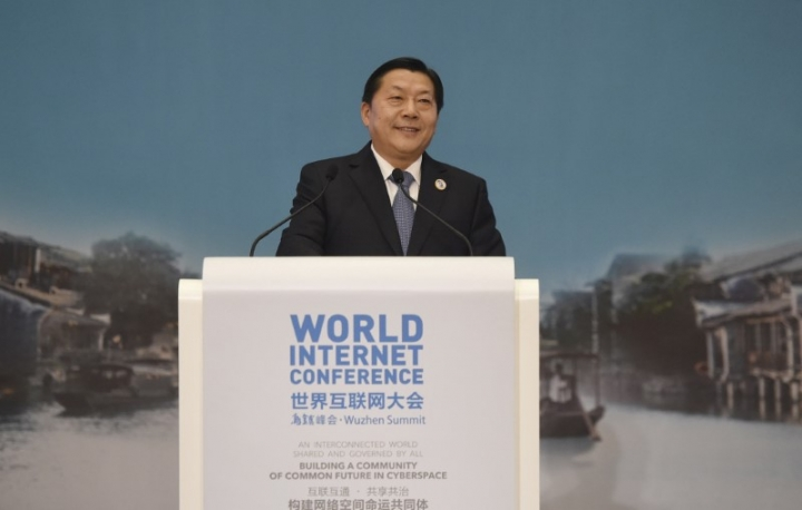 FILE PHOTO - Lu Wei, director of Cyberspace Administration of China, speaks at the closing ceremony of the second annual World Internet Conference in Wuzhen town of Jiaxing, Zhejiang province, China, December 18, 2015. REUTERS/Stringer/File Photo