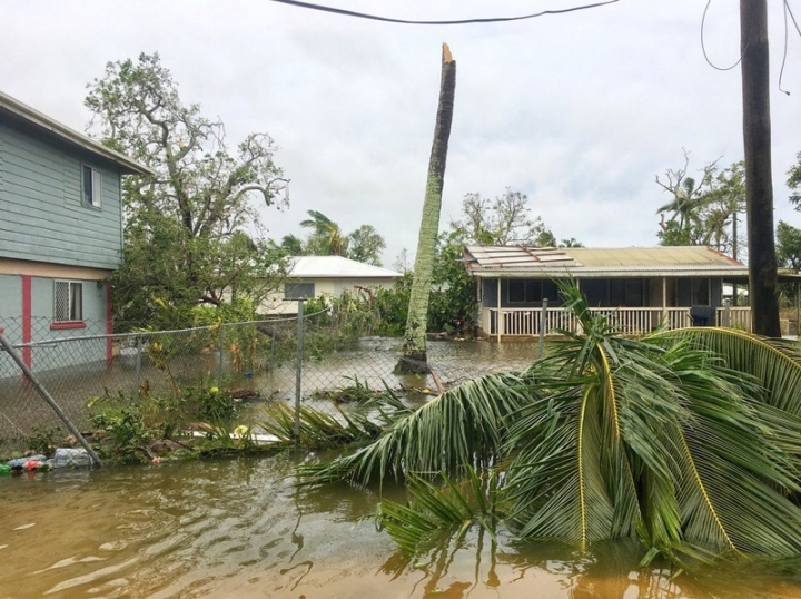 The aftermath of cyclone Gita is seen in Nuku'alofa, Tonga, February 13, 2018 in this picture obtained from social media. Twitter Virginie Dourlet/via REUTERS THIS IMAGE HAS BEEN SUPPLIED BY A THIRD PARTY. MANDATORY CREDIT. NO RESALES. NO ARCHIVES