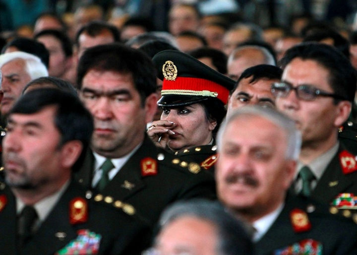 FILE PHOTO: Afghan army generals attend during a gathering of army and police officers at the National Military Academy in Kabul, Afghanistan March 22, 2011. REUTERS/Omar Sobhani/File Photo