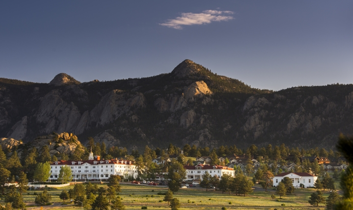 "This undated photo shows The Stanley Hotel in Estes Park, Colo. The hotel is a favorite among fans of the movie ""The Shining"". The movie wasn't shot here, but author Stephen King was inspired to write the novel that the movie is based on after a stay here. (Grand Heritage Hotel Group via AP)"