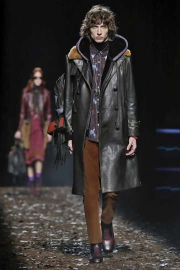 The Coach collection is modeled during Fashion Week in New York, Tuesday, Feb. 13, 2018. (AP Photo/Richard Drew)