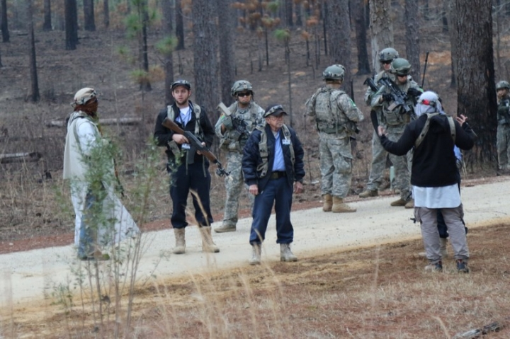 Soldiers from 1st Brigade Combat Team, 10th Mountain Division play the role of the Afghan National Army as part of the 1st Security Force Assistance Brigade Joint Readiness Training Center rotation at Fort Polk, Louisiana, U.S., January 21, 2018. Picture taken January 21, 2018. Sgt. Joseph Truckley, 50th Public Affairs Detachment, 3rd Infantry Division/U.S. Army/Handout via REUTERS