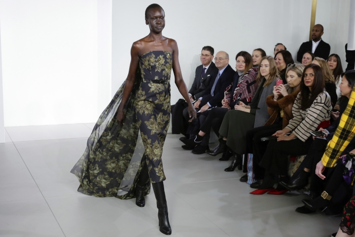 The Michael Kors collection is modeled during Fashion Week in New York, Wednesday, Feb. 14, 2018. (AP Photo/Richard Drew)