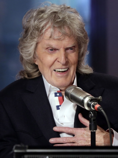 FILE - This May 29, 2015 file photo shows radio shock jock Don Imus in New York. Imus is being sued for age discrimination, Thursday, Feb. 15, 2018 by sportscaster Warner Wolf, 80, who claims that Imus and officials at WABC illegally fired Wolf in October 2016 and replaced him with a much younger sportscaster.(AP Photo/Richard Drew, File)