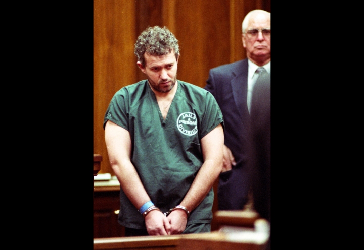 """FILE - In this June 23, 1995 file photo, former English soccer coach and recruiter Barry Bennell appears in a Duval County courtroom in Jacksonville, Fla. A former youth soccer coach has been jailed for 30 years for abusing 12 young footballers after the judge called him the """"devil incarnate."""" Barry Bennell, a former coach at Crewe and scout for Manchester City, was convicted on Monday, Feb. 19, 2018 at Liverpool Crown Court of 50 child sexual offences committed between 1979 and 1991. (Will Dickey/The Florida Times-Union via AP, File)"""